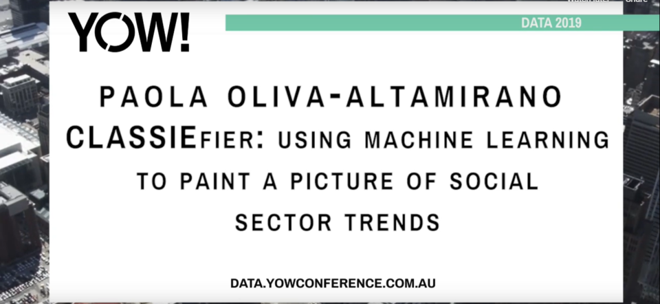 Using machine learning to paint a picture of social sector trends